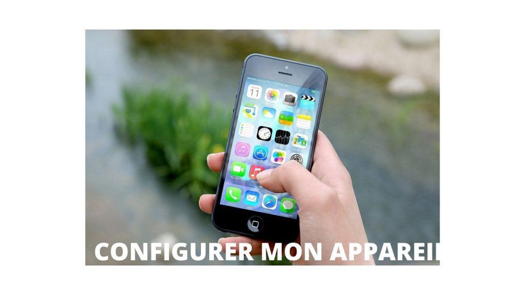 configurer smartphone
